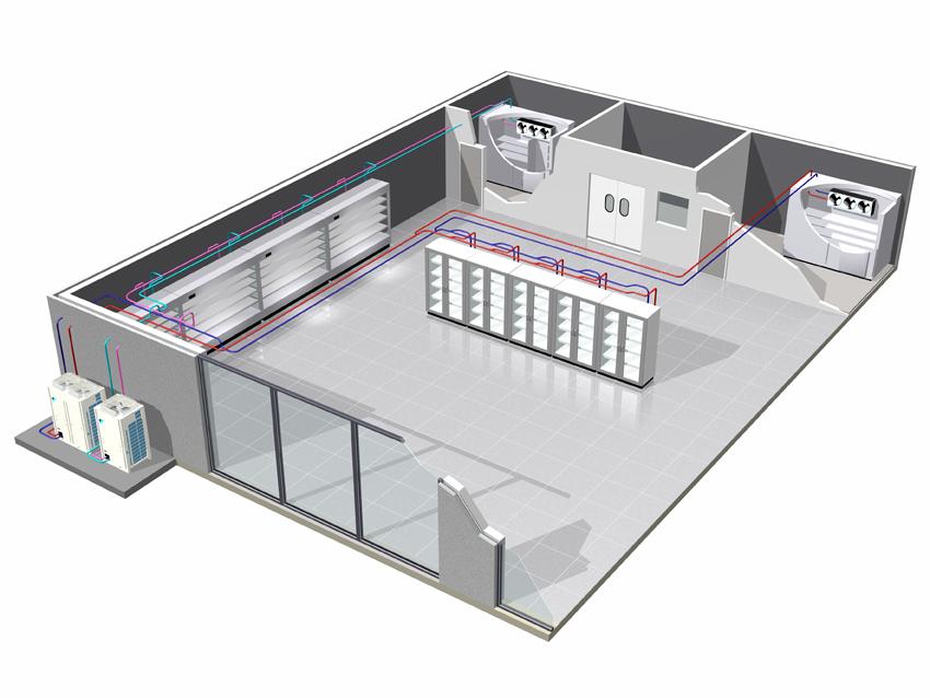 ZEAS refrigeration condensing units installation in shop